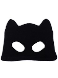 Silver Spoon Attire Cat Mask Beanie Black