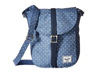 Herschel Kingsgate Limoges Crosshatch White Polka Dot Navy Synthetic Leather Backpack Bags Blue