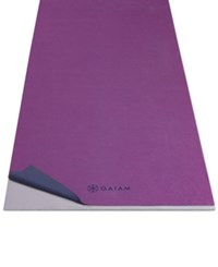 Gaiam Slip Resistant Yoga Towel Grape