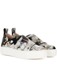 Calvin Klein Ariel Printed Leather Slip On Sneakers Multicoloured