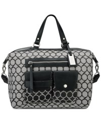 Nine West Pop Pocket Satchel Black White