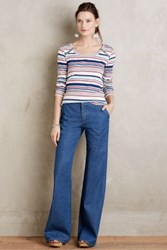 Anthropologie Mih Loon Flare Jeans 74 Blue L Pants
