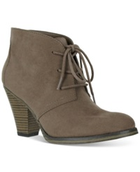 Mia Shawna Lace Up Booties Women's Shoes Taupe