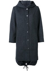 En Route Hooded Long Coat Grey