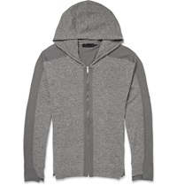 Alexander Mcqueen Two Tone Wool Zip Up Hoodie Gray