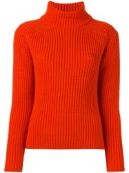Odeeh Roll Neck Jumper Red