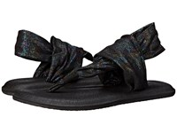 Sanuk Yoga Sling 2 Metallic Black Rainbow Women's Sandals Multi