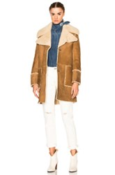 Mih Jeans M.I.H Fairport Shearling Coat In Neutrals