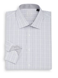 English Laundry Regular Fit Checked Dress Shirt Grey
