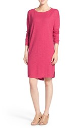 Eileen Fisher Women's Hemp And Organic Cotton Ballet Neck A Line Shift Dress Rhubarb