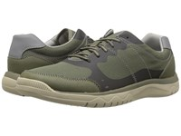 Clarks Votta Edge Olive Synthetic Taupe Men's Lace Up Casual Shoes