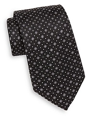 English Laundry Patterned Silk Tie Black
