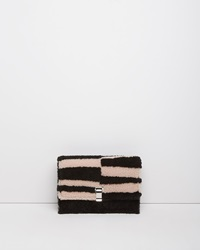 Proenza Schouler Shearling Lunch Bag Clutch Black