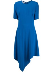 Stella Mccartney Handkerchief Hem Dress Blue