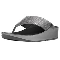 Fitflop Crystall Toe Post Sandals Pewter