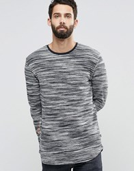 Only And Sons Textured Knitted Crew Neck Dress Blue