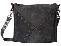 Hammitt Andrew Juniper Silver Eclipse Suede Black Handbags