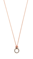 Katie Rowland Wawa Mini Pendant Necklace Rose Gold Lavender