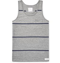 Saturdays Surf Nyc Rosen Striped Cotton Jersey Tank Top Gray