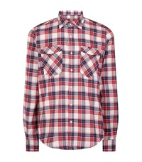 Barbour International Hairpin Slim Fit Flannel Shirt Male Red