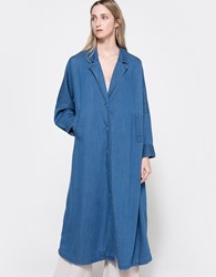 Rachel Comey Zia Trench In Soft Denim Indigo