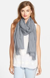 Women's Nordstrom Cashmere And Silk Wrap Grey Grey Sconce