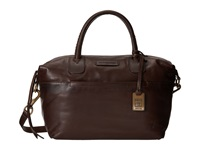 Frye Jenny Satchel Dark Brown Soft Vintage Leather Satchel Handbags