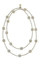 Buccellati Long Sautoir Necklace With 18 Engraved Motifs In Yellow Gold And White Gold Metallic
