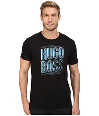 Hugo Boss Tee 2 10165506 01 Black Blue Print Men's T Shirt Multi