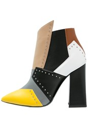 Pollini High Heeled Ankle Boots Country Multicolor Multicoloured