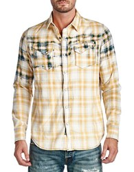 Cult Of Individuality Clint Plaid Sportshirt Yellow