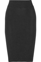Enza Costa Stretch Jersey Pencil Skirt Gray