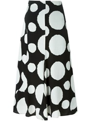 Paul Smith Circle Print Skirt Black