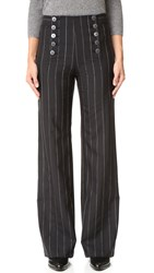 Nanette Lepore Painter Pin Stripe Pants Black White