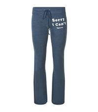 Wildfox Couture Can't Sports Slogan Terry Trackpants Female