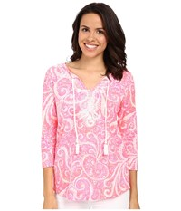Lilly Pulitzer Holly Top Pink Pout Pbj Women's Clothing