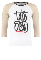 Your Turn Long Sleeved Top White Light Grey