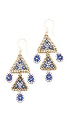 Miguel Ases Stacy Earrings Royal Multi