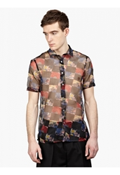 Raf Simons Men's Graphic Floral Shirt
