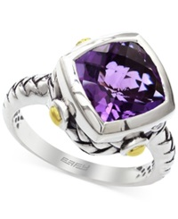 Effy Collection Effy Amethyst Ring In Sterling Silver And 18K Yellow Gold 3 1 2 Ct. T.W.