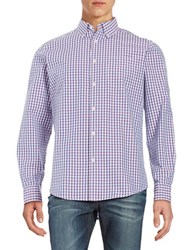 Black Brown Checkered Laundered Sportshirt Parfait Pink