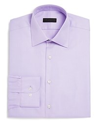 Ike Behar Twill Solid Regular Fit Dress Shirt Lavender