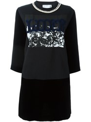 Sacai Jersey Panel Dress Black