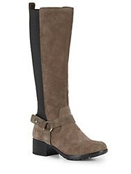 Bandolino Bonica Suede Tall Boots Taupe