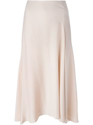 Theory Flared Midi Skirt Pink And Purple