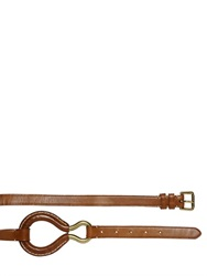 Polo Ralph Lauren Smooth Leather Belt With Brass Detail