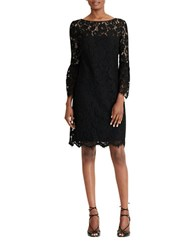 Lauren Ralph Lauren Scalloped Lace Sheath Dress Black White