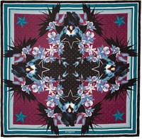 Givenchy Multicolor Paradise Flower Scarf