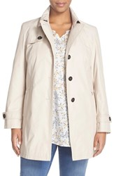 Plus Size Women's Basler Belted Single Breasted Trench Coat