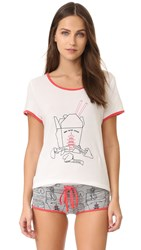 Minkpink San Choy Wow Tee White Red